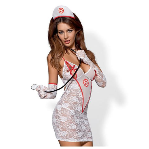 Medical Dress- Krankenschwesterkostüm S/M Obsessive 2999