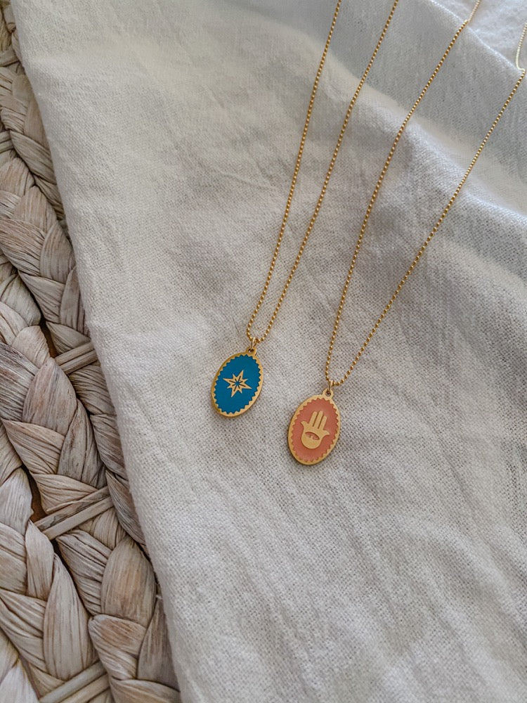 Oval Coin Necklaces - MaeCargo