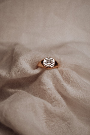 """Barbell At Heart"" Ring - Mae Cargo"
