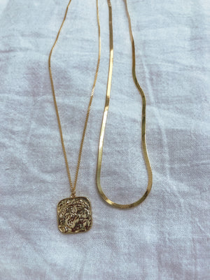 """Vintage Coin + Tulum Sands Queen"" necklaces - MaeCargo"