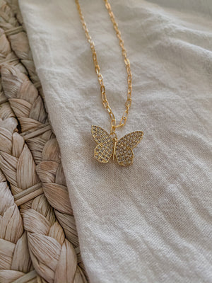 Butterfly Necklace - MaeCargo