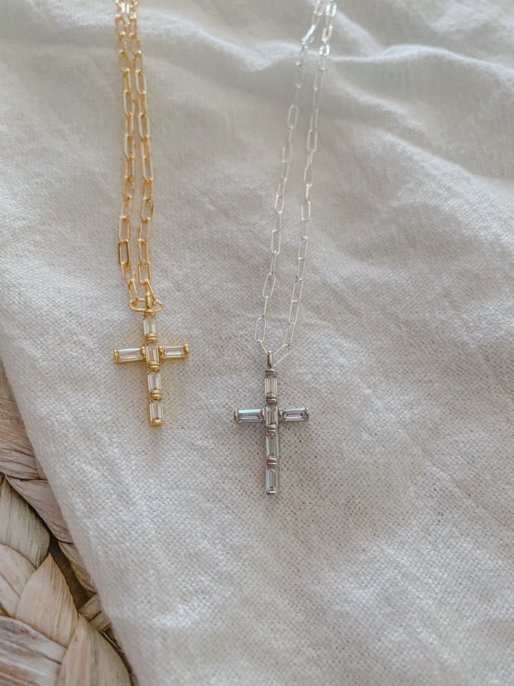 Crystal Cross Necklaces - MaeCargo