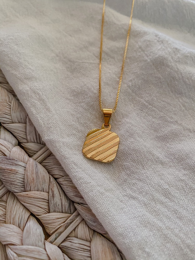 Retro + Stripes Necklace - MaeCargo