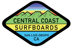 Central Coast Surfboards Hills Logo depicting the Seven Sisters chain of volcanic peaks, a central feature to San Luis Obispo's landscape. CCSurf.com provides surf, skate, and lifestyle gear to California's Central Coast and the World.