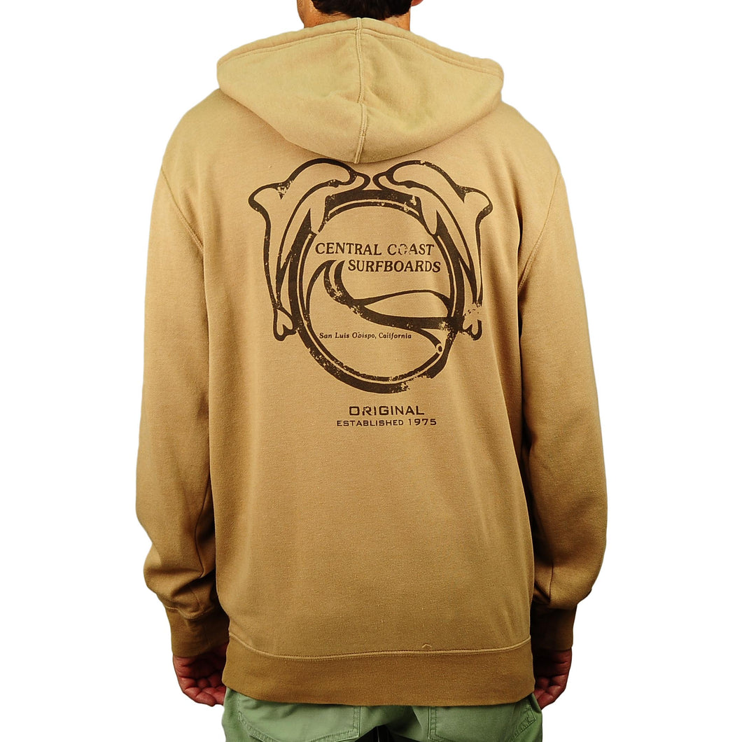 Men's Central Coast Surf Dolphins Sueded Hoodie