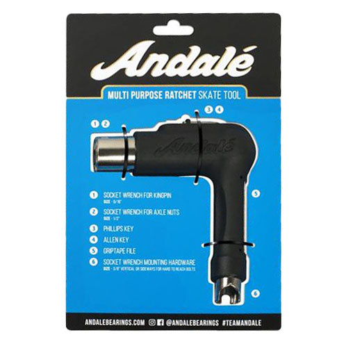 Andalé Multi Purpose Black Skate Tool Ratcheting
