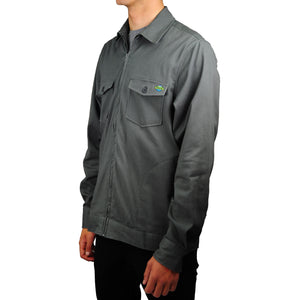 Central Coast Surfboards Marvin Twill Jacket Charcoal