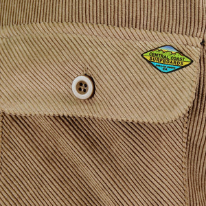 Central Coast Surfboards Jocko Corduroy Sherpa-Lined Jacket Khaki