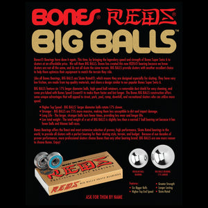 Bones Big Balls Reds Bearings 8-Pack