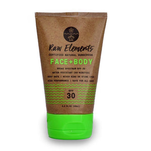 Raw Elements Face + Body Sunscreen Lotion SPF 30 3 oz