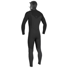 Load image into Gallery viewer, O'Neill HyperFreak Chest Zip with Hood 4/3+ Men's Full Wetsuit Black
