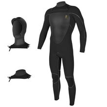 Load image into Gallery viewer, O'Neill Mutant Legend Chest Zip with Hood 4.5/3.5 Men's Full Wetsuit Black