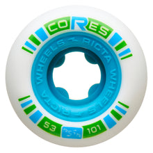 Load image into Gallery viewer, Ricta Cores Neon Blue 101A 53mm Skateboard Wheels 4 Pack