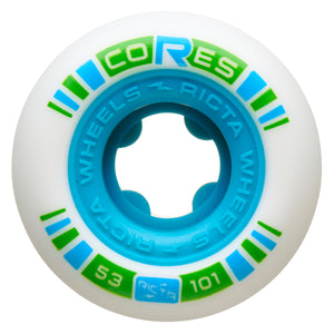 Ricta Cores Neon Blue 101A 53mm Skateboard Wheels 4 Pack
