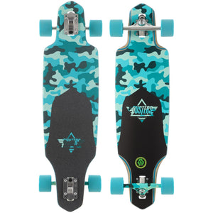 "Dusters Channel Dragonfly Drop Through 34""  Longboard Complete"