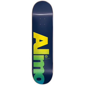 Almost Fall Off Logo Skateboard Deck Blue 8.5