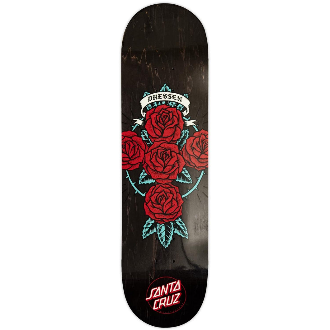 Santa Cruz Dressen Rose Cross 9.0 Skateboard Deck