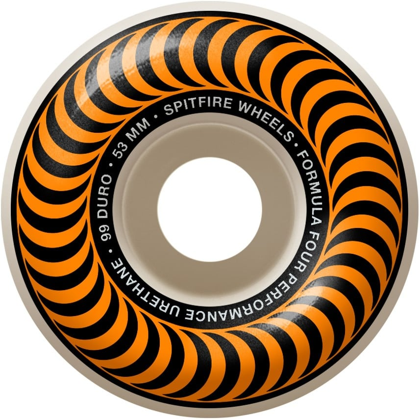 Spitfire Formula Four Classic Orange Swirl 99A 53mm Skate Wheel 4 Pack