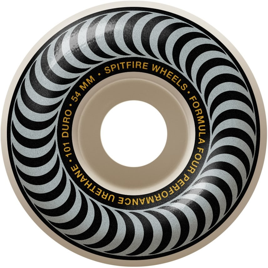 Spitfire Formula Four Classic Silver 101A 54mm Skate Wheel 4 Pack