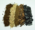 Load image into Gallery viewer, Overhead view of the different ingredients in Atlanta Botanical Gardens terrarium soil.