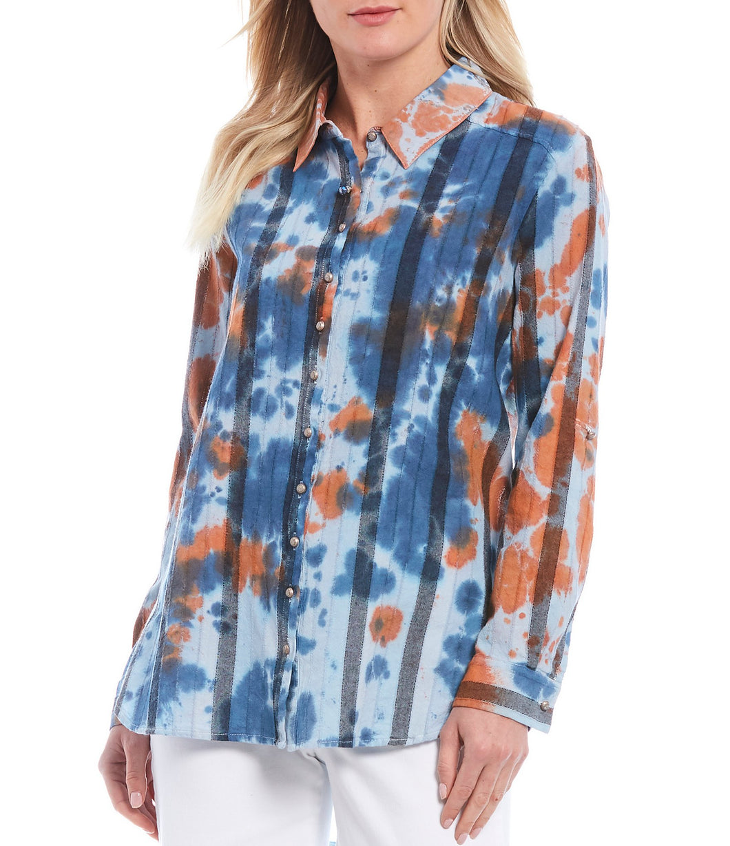 Pacific Crest Cotton Blend Tie-Dye Shirt