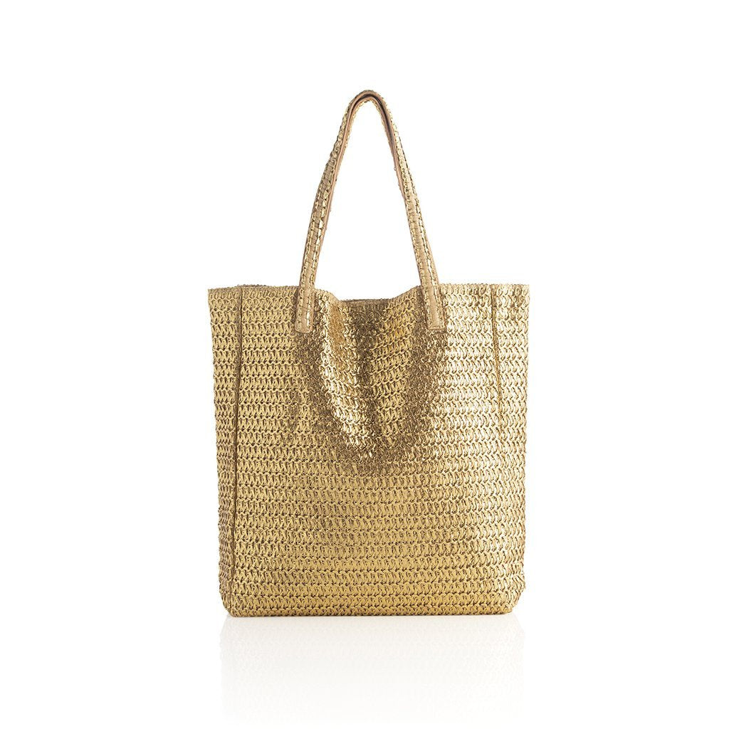 Ornella Tote with Pouch-Gold