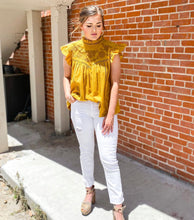 Load image into Gallery viewer, Mustard Yellow Embroidered Top