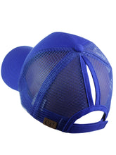 Load image into Gallery viewer, Royal Blue High Ponytail CC Ball Cap