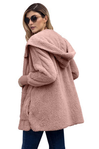 Soft Fleece Hooded Cardigan-Plus