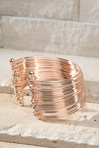 Multi-layered Metal Cuff Bracelet
