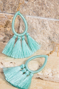 Tassel Teardrop Earrings
