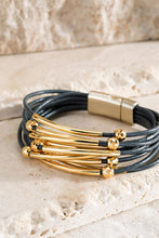 Load image into Gallery viewer, Faux Leather and Metal Bracelet