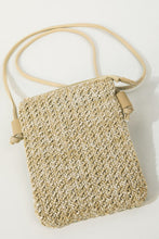 Load image into Gallery viewer, Woven Ratten Cell Phone Crossbody