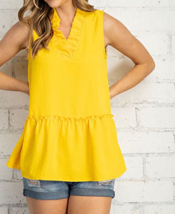 Bright Sleeveless Top