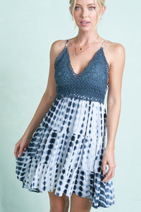 Crochet Tie Dye Slip Dress