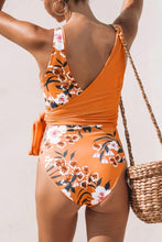 Load image into Gallery viewer, Floral Wrap One Piece Bathing Suit