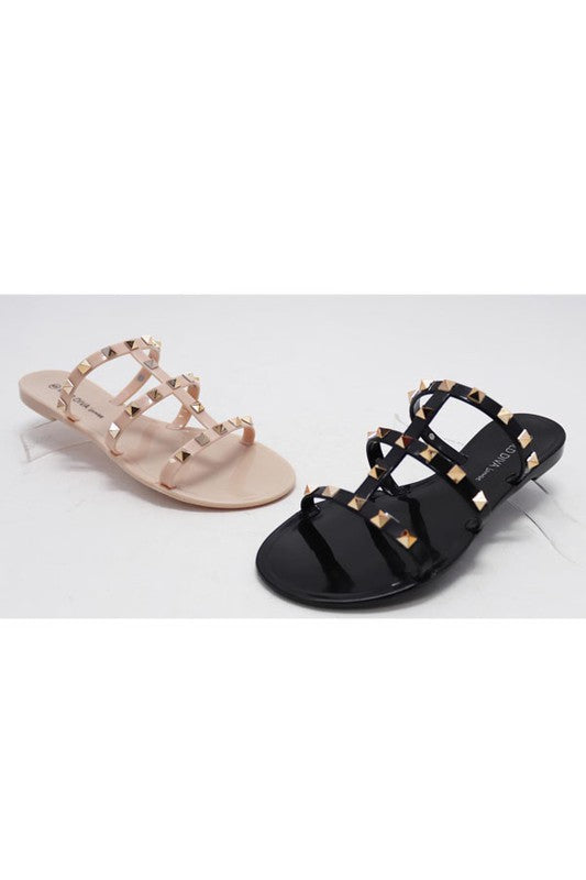Blush Strappy Sandal With Stud