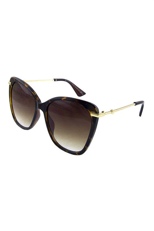 Blended Square Retro Sunglasses