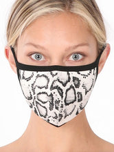 Load image into Gallery viewer, Snakeskin Washable Face Mask