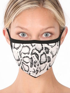 Snakeskin Washable Face Mask