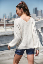 Load image into Gallery viewer, Soft Cream Sweater With Sequins