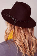 Load image into Gallery viewer, Felt Bow String Fedora Hat