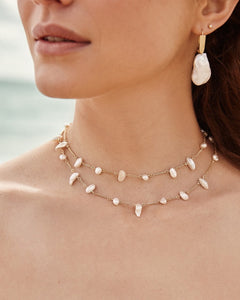 Krissa Chocker Necklace-Pearl