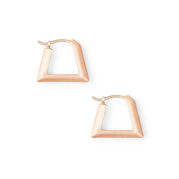 Renzo Rose Gold Huggie Earrings
