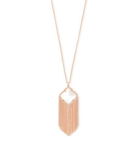 Kingston Rose Gold Necklace-Ivory Mother of Pearl