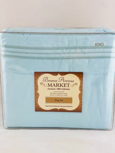 1800 Thread Count Sheets-Light Blue