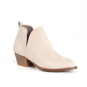 Caring Taupe Snake Boots