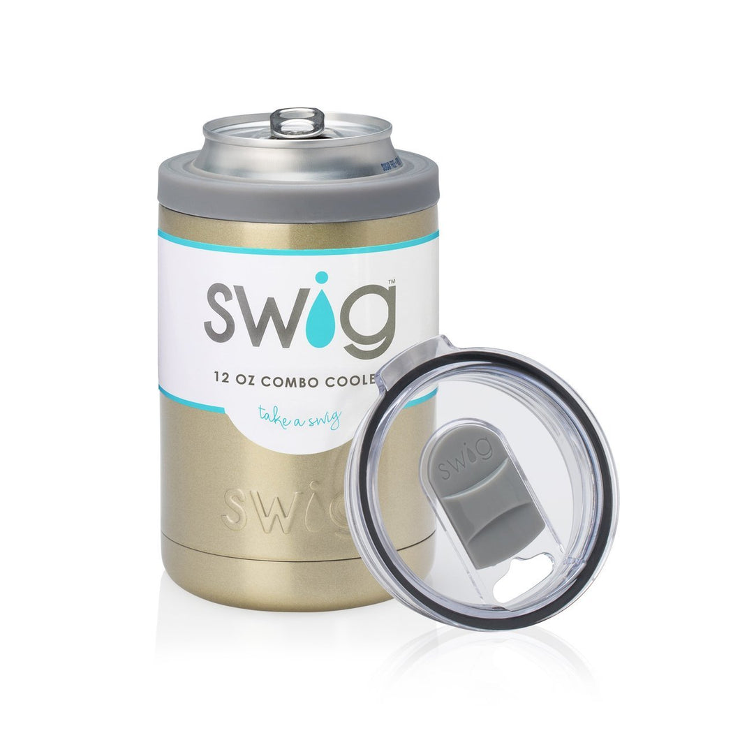 Swig 12 oz Combo Cooler- Gold