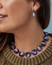 Load image into Gallery viewer, Jolie Navy Gunmetal Statement Necklace-Indigo Illusion