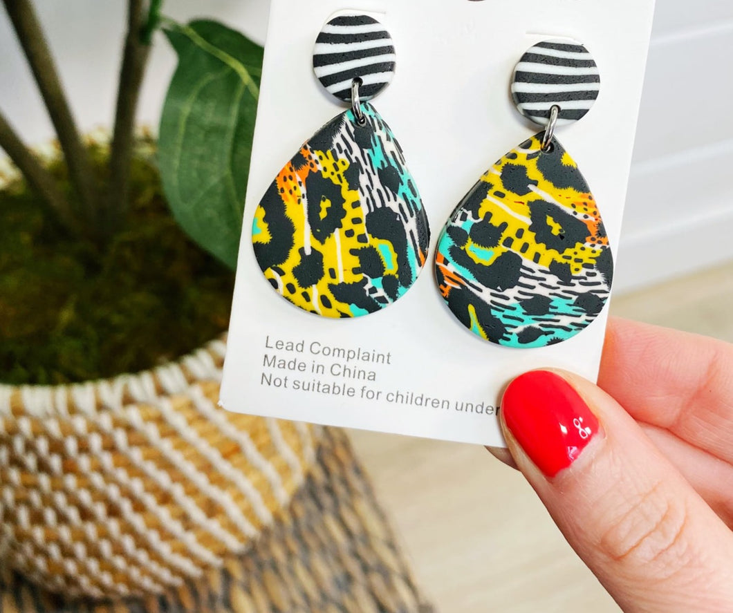 Polymer Clay Statement Earrings -